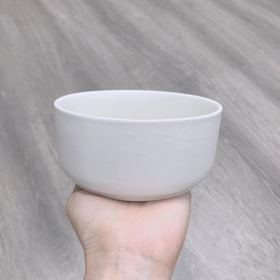 Chậu tròn thấp trắng 12*5cm